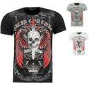 .Herren Vintage T-Shirt Shirt  Kurzarm  Totenkopf  Skull...