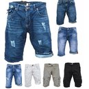 Bermuda Jeans Shorts Stretch Denim Kurze Capri Hose...