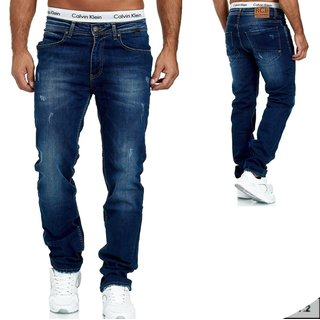 Herren Jeans  hose  Stretch Straight-Cut Gerades Bein   BLAU. H6005-1