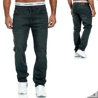 Herren Jeans  hose  Stretch Straight-Cut Gerades Bein  2730