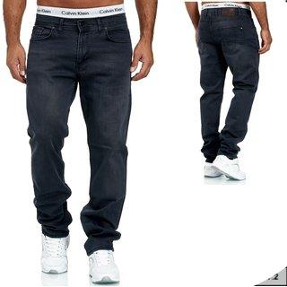 Herren Jeans  hose  Stretch Straight-Cut Gerades Bein  3942 BLAU