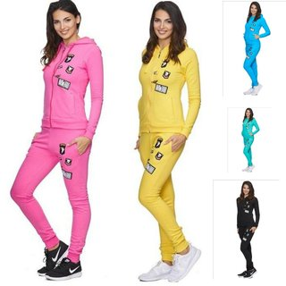 Damen Jogginganzug Jogging Hose Jacke Sportanzug Fitness Partnerlook 696