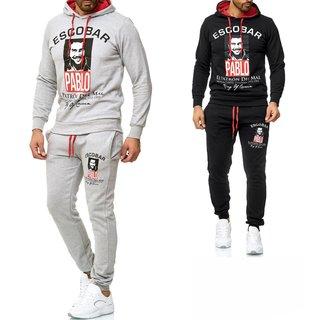 ESCOBAR  Herren Jogging Anzug Trainingsanzug Sweatshirt Hose Sportanzug