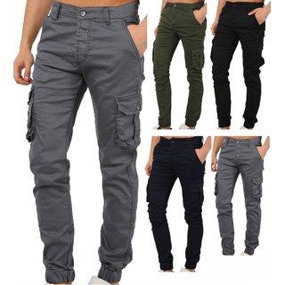 Herren Cargo Jogger Chino Stretch Hose Jogg Jeans Sweatpants 5266 Sweathose 1482