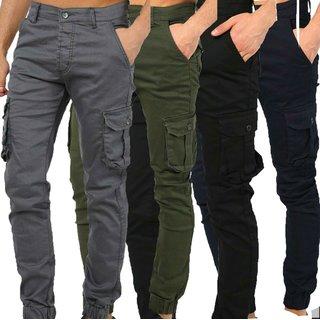 Herren Cargo Jogger Chino Stretch Hose Jogg Jeans Sweatpants Sweathose 2020