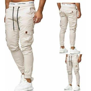 Herren Cargo Jogger Chino Stretch Hose Jogg Jeans Sweatpants Sweathose 3301 g