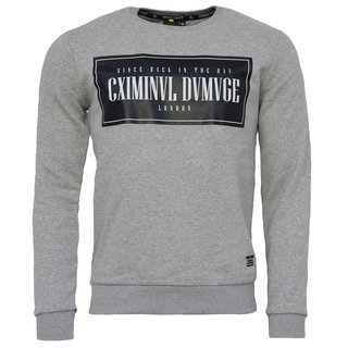 Herren Pullover Sweat Criminal Damage Sweatershirt Grey Gr 2019 !!! S-XL NEU