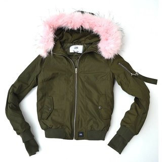 Neu Sixth June Damen  Fell Winter Herbst Jacke GRÜN  Pink S   W2030CJA-KABB-S
