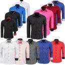 Hemd Hemden Business Hochzeit Freizeit Slim Fit Bügelleicht Shirt  von S - 6XL
