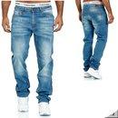 Herren Jeans  hose  Stretch Straight-Cut Gerades Bein