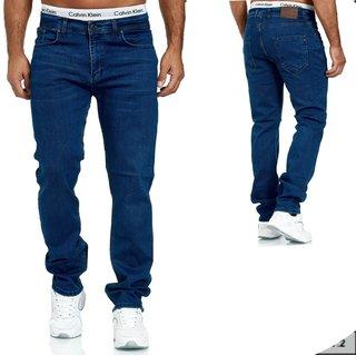 Herren Jeans  hose  Stretch Straight-Cut Gerades Bein   BLAU. 2079