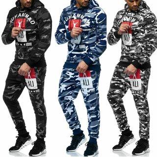 Herren Trainingsanzug Muhammad Ali  Sportanzug Jogginganzug  Pullover Hoodie +