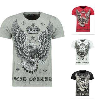 Herren Vintage T-Shirt Basic Shirt  Kurzarm  Totenkopf  Skull Rocker Schädel 58