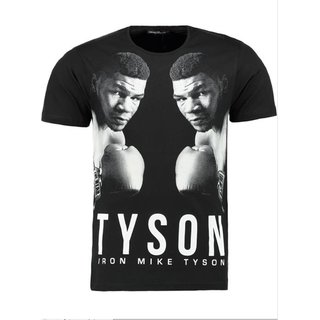 Herren Vintage T-Shirt Basic Shirt  MIKE TYSON  T-Shirt 9903 Schwarz XL