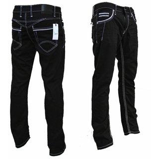 STRAIGHT Herren Jeans Basic Jeans Stretch Hose  DICKE NAHT  NEU 2136