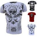 Vintage T-Shirt Basic Shirt  Kurzarm  Totenkopf  Skull...