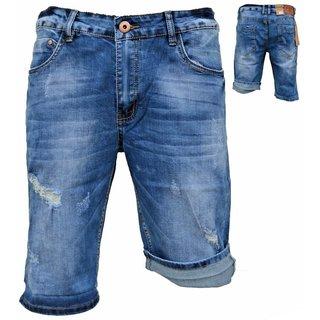 .Herren Bermuda Jeans Shorts Stretch Denim Kurze Capri Hose Sommer D135#