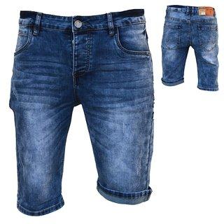 .Herren Bermuda Jeans Shorts Stretch Denim Kurze Capri Hose Sommer D89#