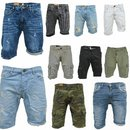 .iProfash Herren Bermuda Jeans Shorts Stretch Denim Kurze...