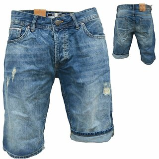 .iProfash Herren Bermuda Jeans Shorts Stretch Denim Kurze Capri Hose Sommer 022.