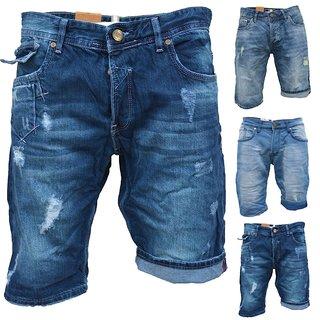 .iProfash Herren Bermuda Jeans Shorts Stretch Denim Kurze Capri Hose Sommer 19