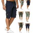 Bermuda Jeans Shorts Stretch Denim Kurze Capri Hose...