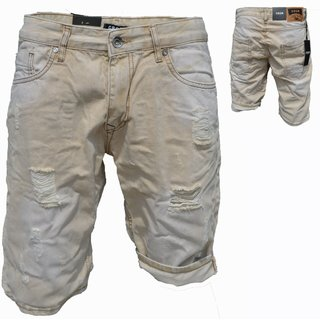 Bermuda Jeans Shorts Stretch Denim Kurze Capri Hose Sommer. iProfash  9240 beige