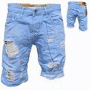 Bermuda Jeans Shorts Stretch Denim Kurze Capri Hose Sommer. iProfash Herren 1011