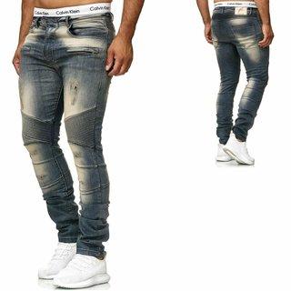 Freeside Herren Biker Jeans destroyed frayed stonewashed Pant Hose Boom NEU 2019