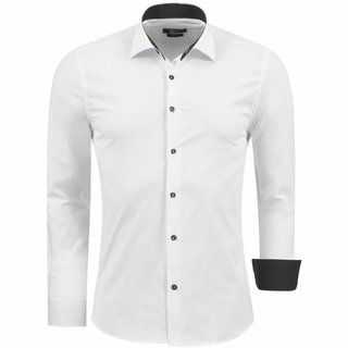 Hemd  Herren  Hemden  Slim Fit Bügelleicht WEISS 1122 neu.