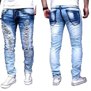 Herren  Jeans  Hose Vintage hose  Casual blau