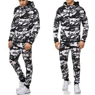 Herren  Jogginganzug  Sportanzug  Anzug Trainingsanzug schwarz  1048