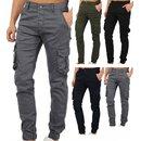 Herren Cargo Jogger Chino Stretch Hose Jogg Jeans...