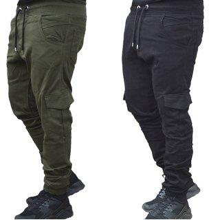Herren Cargo Jogger Chino Stretch Hose Jogg Jeans Sweatpants Sweathose 2025