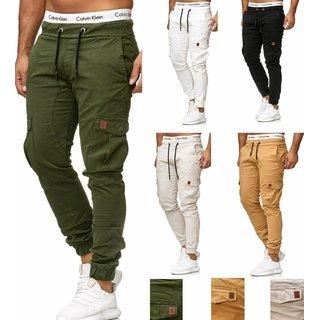Herren Cargo Jogger Chino Stretch Hose Jogg Jeans Sweatpants Sweathose 3301