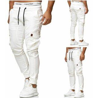 Herren Cargo Jogger Chino Stretch Hose Jogg Jeans Sweatpants Sweathose 3301 W