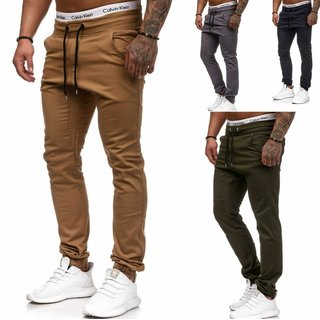 Herren Cargo Jogger Chino Stretch Hose Jogg Jeans Sweatpants Sweathose 700 - 510