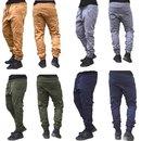 Herren Cargo Jogger Chino Stretch Hose Jogg Jeans Sweatpants Sweathose 7001. Neu