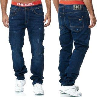 Herren Jeans Hose   Regular Straight  Fit Hose  H 2002.    BLAU