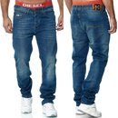 Herren Jeans Hose   Regular Straight  Fit Hose H 6000 BLAU