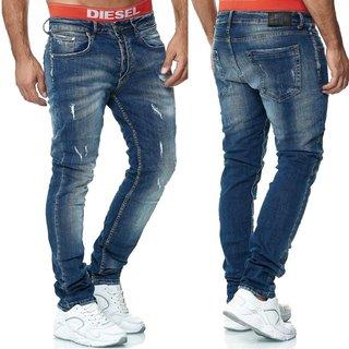Herren Jeans Hose  Slim Fit SKINNY   S 1168 BLAU