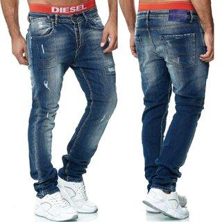 Herren Jeans Hose  Slim Fit SKINNY  S 1169 BLAU