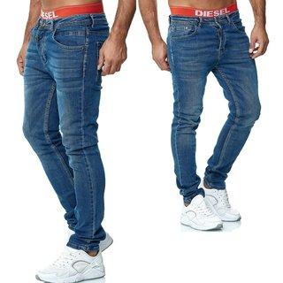 Herren Jeans Hose Regular Slim Fit SKINNY Used  H1002- 1.   40132