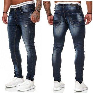 Herren JEANS HOSEN   Stretch Hose  pants BLAU HOSEN  SUPER SKINNY Jeans OMG 5068