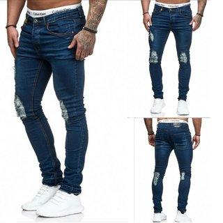 Herren Jeanshosen  Stretch Hose  Jeans  Slim fit  SUPER SKINNY Jeans  OM 5007 BL