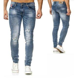 Herren Jeanshosen  Stretch Hose  Jeans  Slim fit  SUPER SKINNY Jeans Blau 1317