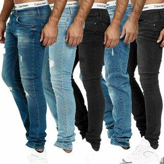 Herren Jeanshosen  Stretch Hose  Jeans  Slim fit  SUPER SKINNY Jeans Blau 27ö