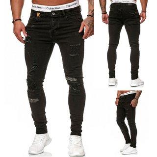 Herren Jeanshosen  Stretch Hose  Slim fit   SKINNY Jeans Blau  5037 Schwarz