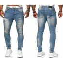 Herren Jeanshosen  Stretch Hose  Slim fit   SKINNY Jeans Blau  OMG 5037 Schwarz