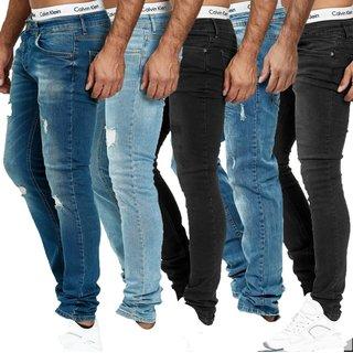 Herren Jeanshosen  Stretch Hose  Slim fit   SKINNY Jeans Blau  OMG Schwarz  Blau